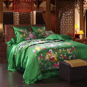 emerald green comforter emerald green and colorful retro floral and character