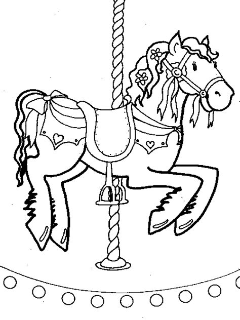 pin carousel horse coloring pages merry go round page on