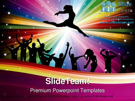 dance music abstract powerpoint templates themes and