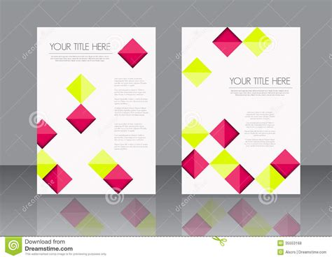leaflet design template free brochure template design stock vector image of business