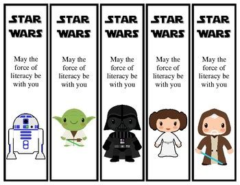 printable star wars bookmarks star wars theme printable bookmarks 30 different by dadio