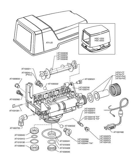 water softener parts diagram autotrol 168 valve assembly