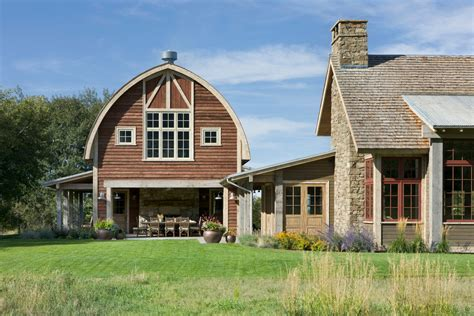 pole barn home plans exterior farmhouse with arched roof