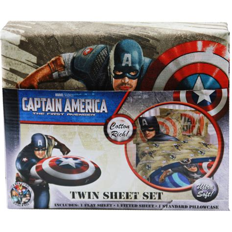 captain america bedding captain america bedding twin sheet set at toystop