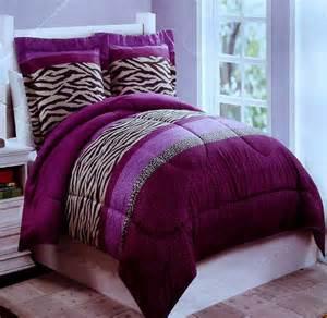 twin purple bedding zebra fun animal print purple twin comforter sham 2pc