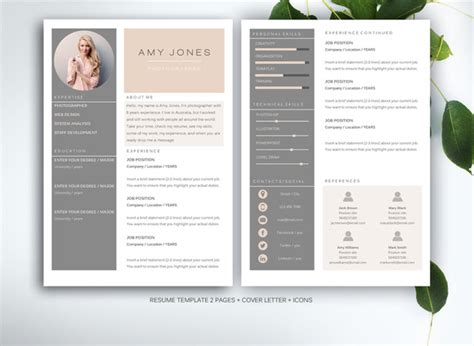 Graphic Design Resume Sles 2015 Resume Template For Ms Word Resume Templates On Creative Market