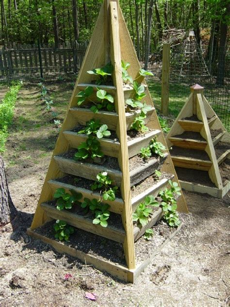 Planter Tower by How To Build A Pyramid Strawberry Planter Diy Plans