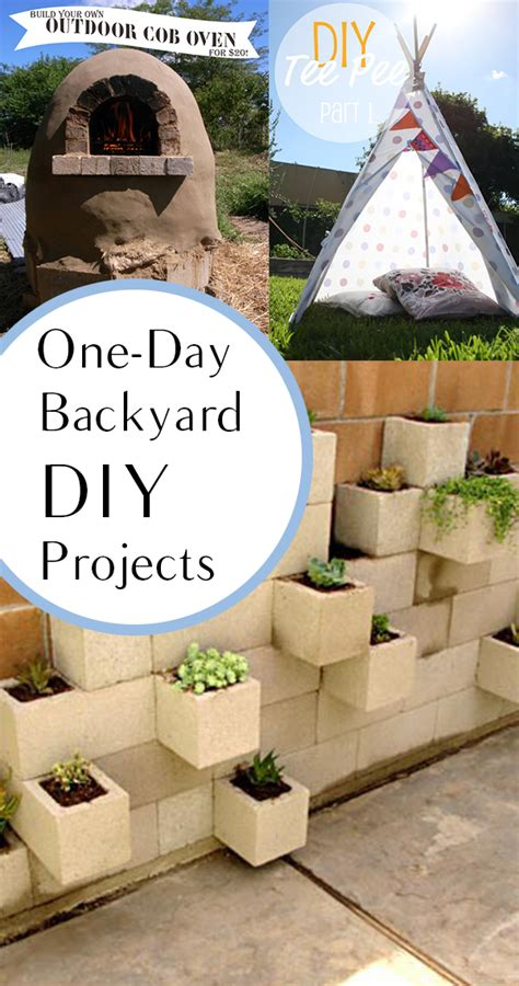 backyard diy projects you can do in a day how to build it