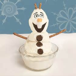 Olaf ice cream dessert disney family