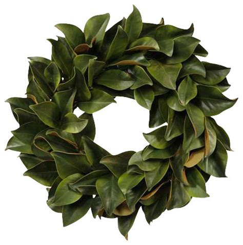 wreath magnolia leaf green traditional artificial