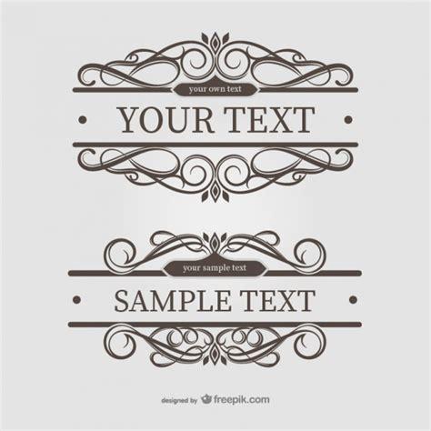 cornici per testo cornici di testo ornamentali scaricare vettori gratis