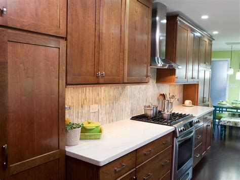 kitchen with brown cabinets two toned kitchen cabinets pictures options tips