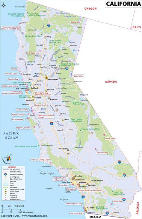 map de california usa california map map of california ca