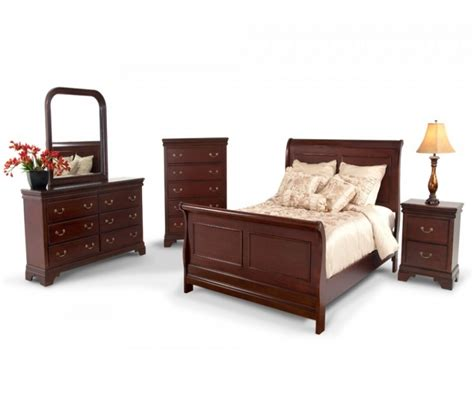 Bedroom Louie 8 Piece Queen Bedroom Set Bob S Discount Bobs Furniture Bedroom Sets
