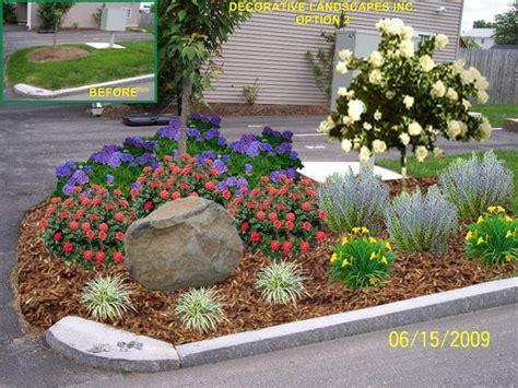 Driveway Entrance Landscaping Ideas Landscaping Ideas For Driveway Entrance Condominium Front Entrance Landscape Ma Garden