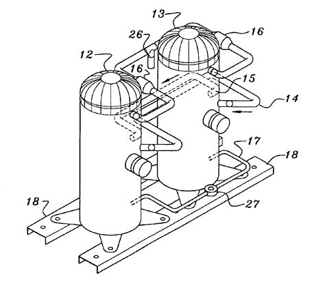 patent  piping layout  multiple compressor