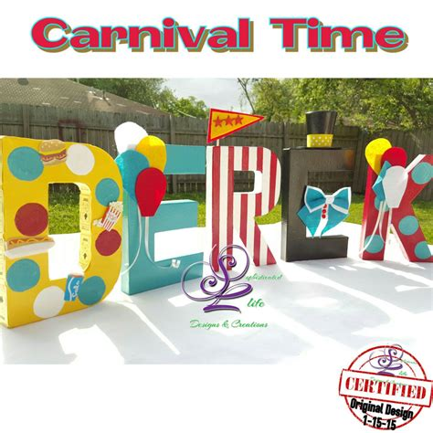 carnival themed names carnival theme letters decorated name letters
