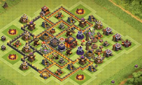 coc town hall 7 top 50 best th7 war base farming hybrid trophy