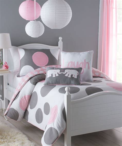 pink and grey comforter sets victoria classics pink gray kayla comforter set girls