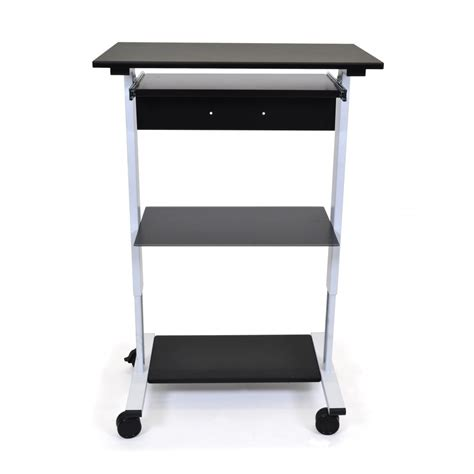 standing height desk with storage standing desk computer workstation office storage