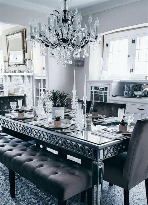 mirrored dining room furniture best 25 glass dining room table ideas on pinterest