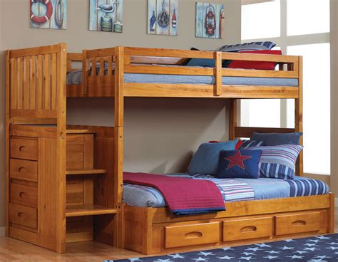 how to put together a bunk bed with futon honey stair stepper twin over full bunk bed discovery