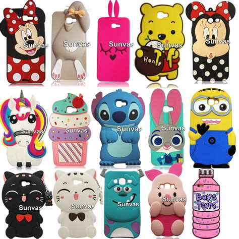Jelly 3d Panda Samsung J5 3d minnie judy honey cat stitch pig silicone