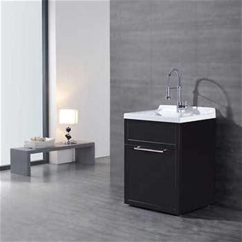 Ove Utility Sink Cabinet by Espresso Vanity Style Utility Sink With Faucet By