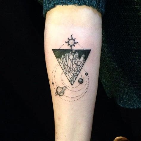 triangle tattoo meanings earth triangle 40 unique triangle meaning