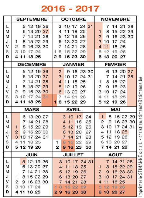 Calendrier Scolaire 2017 Belge Cong 233 S Absences Disponibilit 233 S