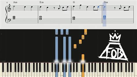 tutorial keyboard fall for you fall out boy chion piano tutorial chords youtube
