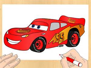Lightning Mcqueen Car Drawing How To Draw Lightning Mcqueen 7 Steps With Pictures