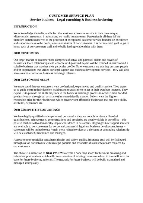 customer service business plan template best photos of sle computer disaster recovery plan