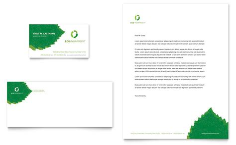 Non Profit Business Cards Templates by Environmental Non Profit Business Card Letterhead