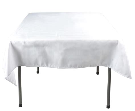 Square Table Cloth Square Tablecloth White Polyester Display Square Shape