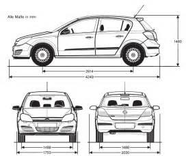 Dimensions Of Vauxhall Astra Tutorials3d Blueprints Opel Astra C