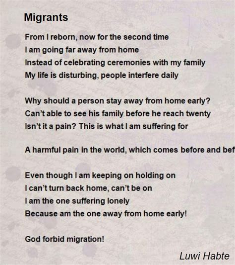 migrants poem by luwi habte poem comments