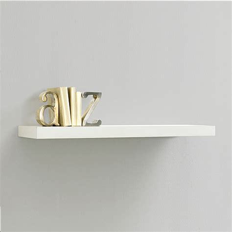 inplace shelving 23 6 quot floating wood wall shelf white
