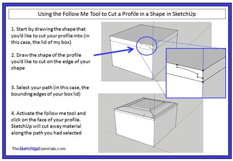 sketchup layout rectangle dimensions extruding shapes along paths with the sketchup follow me