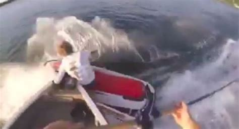 jet ski hits bass boat and september s moron of the month award goes to