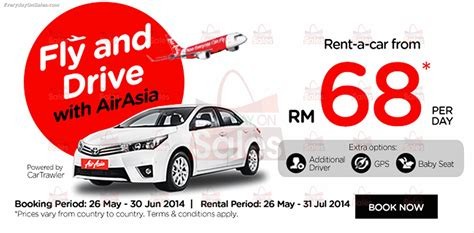 new year car rental promotion 26 may 30 jun 2014 airasia malaysia rent a car with fly