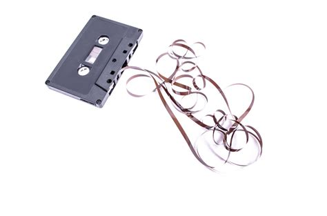 audio cassette audio cassette with on white free stock photo