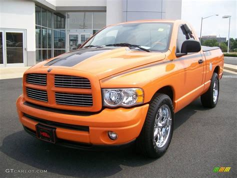 2004 custom orange dodge ram 1500 hemi gtx regular cab 6557584 gtcarlot car color galleries