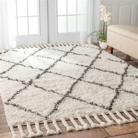 dark grey patterned rugs nuloom hand knotted moroccan trellis natural shag wool rug