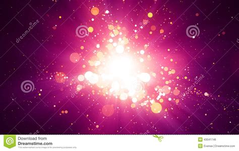 background image center pink particles light center background stock illustration