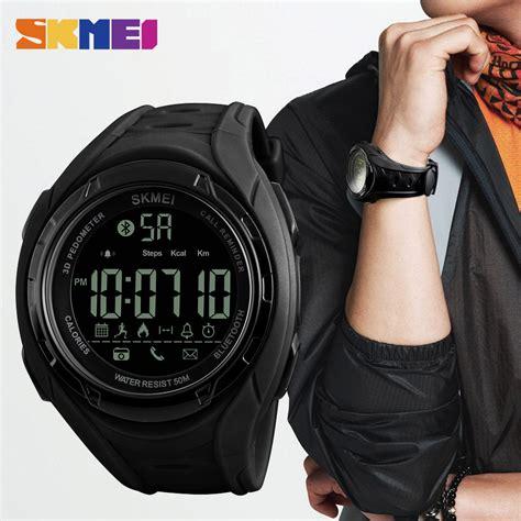 Jam Smartwatch 3 skmei jam tangan olahraga smartwatch bluetooth 1316 army green jakartanotebook