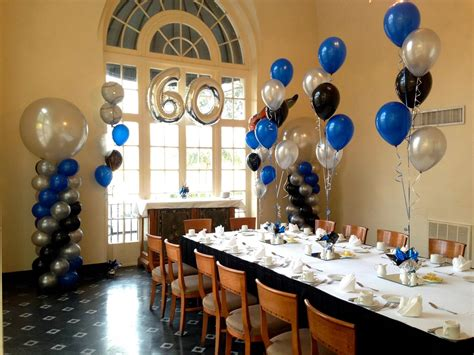 60th birthday table party people event decorating company 60th birthday party