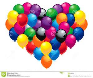 Bunch Of Balloons Heart Of Balloons Stock Image Image 5293281