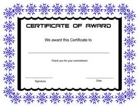 Printable Award Certificate Templates by Printable Award Certificate Templates Sleprintable