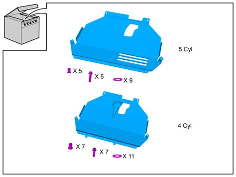 protective plate beneath  engine    automatic volvo cars accessories